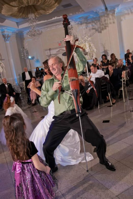 Violins pop show-Roman with bride Zhana at Addison Park NJ