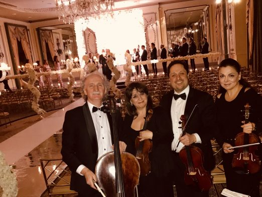 Empyreal Strings quartet at Pierre Hotel, NYC